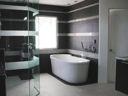Waterfall Shower Designs Bathroom Dark Brown Wood Mirror White Acrylic Shower Tall White