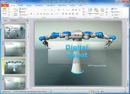 robot powerpoint template animated robot powerpoint template for