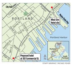 Portland City Map by Two New Hotels With 278 Rooms Planned For Portland Waterfront