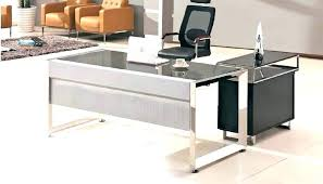 glass top office desk glass office furniture lesdonheures com