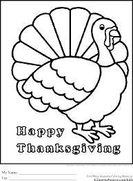 coloring page turkey dinner happy thanksgiving coloring pages