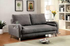 furniture of america raquel adjustable sofa futon with built in