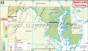 maryland map physical map of maryland maryland physical map