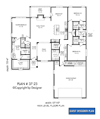 house plan 37 23 vtr house plans by garrell associates inc house plan 37 23 1st floor plan