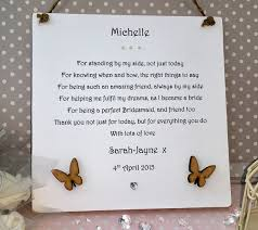 bridesmaid card wording bridesmaids thank you card wording bridesmaid card large 210mm
