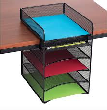 Office Desk Organizers Accessories by Amazon Com Safco Products 3257bl Onyx Mesh Desktop Organizer