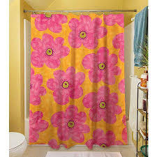 Pink And Orange Shower Curtain Enchanting Orange Shower Curtains And Kids Shower Curtain Of