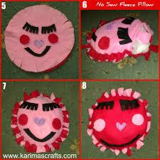 karima u0027s crafts no sew fleece pillow