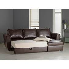 White Leather Corner Sofa Bed Siena Leather Effect Corner Sofa Bed With Storage Chocolate