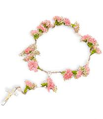 traditional carnation rosary available in a variety of colors