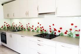 credence de cuisine en verre cr dence de cuisine en verre feuillet colora image righetti avec