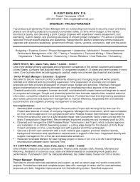 Sample Of Good Resumes by Good Resume Sample Of Engineer Project Manager Position Expozzer