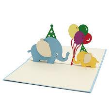 elephant birthday pop up card custom cards wholsale pop up card