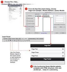 create advanced design templates in dreamweaver for jquery mobile
