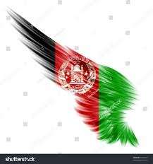 Flag Com Flag Afghanistan On Abstract Wing White Stockillustration 72904513