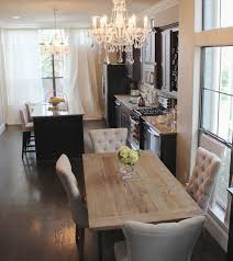 awesome dining room with beautiful crystal chandelier and