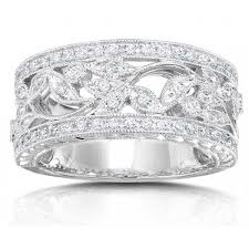 white gold vintage wedding bands antique design half carat wedding ring band for in white gold