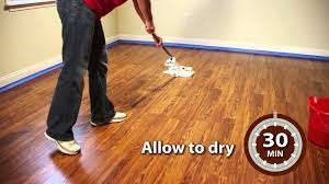 My Laminate Wood Floor Is Dull Rust Oleum Wood Floortransformations Application Video Youtube