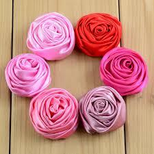 satin roses 200pcs lot 20colors 3 5cm summer dress 3d floral satin roses flowers