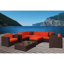 Orange Wicker Patio Furniture - orange patio conversation sets outdoor lounge furniture the