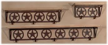 iron wood industries wc5231 texas star coat hook shelving wall