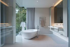 Modern Bathrooms South Africa - this house in south africa has views of a world heritage site