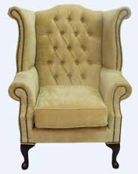 high back wing armchairs chesterfield armchair queen anne high back wing chair velluto gold