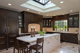 wood kitchen cabinets with white island custom cabinets in haledon new jersey