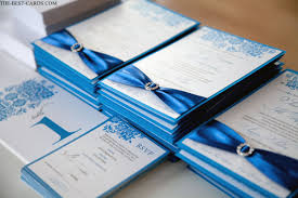 Best Shades Of Blue Pauly Poo Wedding Invitation In Royal Blue Color Crystal Buckle