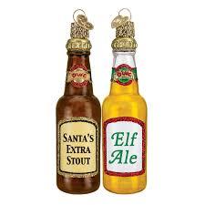 bottle ornaments ale santa s stout