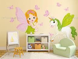stickers chambre bébé fille fée stickers muraux chambre fille fées licorne kit