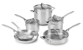 black friday pots and pans set calphalon signature stainless steel 10 pc cookware set