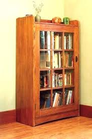 Oak Bookcases With Glass Doors Oak Bookcase With Glass Doors Hercegnovi2021 Me