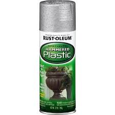 shop rust oleum specialty paint for plastic silver hammered fade