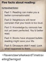 five facts about reading rumputsantoso fact 1 reading can make you a