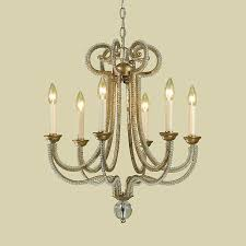 Lighting Universe Olson 6772 6h Candice Olson 6 Light Chandelier Soft Gold