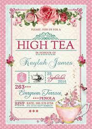 best 25 high tea invitations ideas on bridal tea