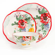 the pioneer woman country garden 12 piece decorated dinnerware set