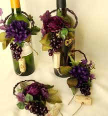 wine theme wedding centerpieces wine bottle topper by