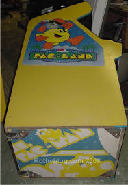 Ms Pacman Cabinet How Bally Stenciled Ms Pac Man Cabinets Rotheblog U2013 Arcade Game