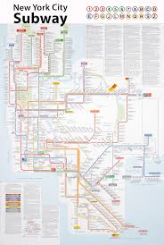 Nyc Subway Map Poster by Landscape Subject