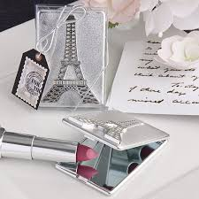 quinceanera favors eiffel tower design mirror compacts