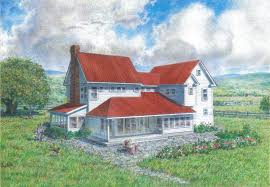 madson design house plans gallery american homestead revisited d202 back right elevation