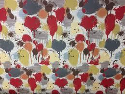 modern paint splatter multicolored upholstery fabric