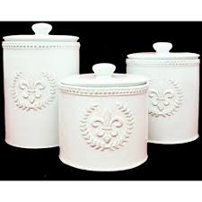 fleur de lis canisters for the kitchen kitchen tagged canisters lancaster house