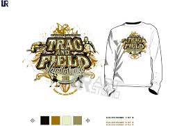 color separated track and field invitational vector design for