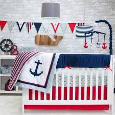 Pink And Blue Crib Bedding Decor Surprising Best Anchor Crib Bedding With New 2018
