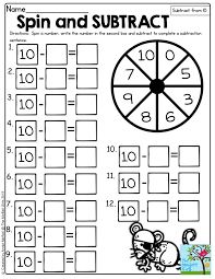spin and subtract spin a number and subtract the number from 10
