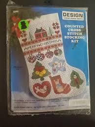 counted cross stitch kit christmas stocking 17