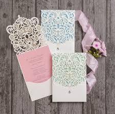 Wedding Invitations Inserts Diamante Laser Cut Pocketfold Personalised Wedding Invitation From